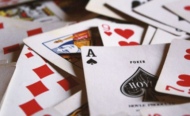 card games gamblers playing cards