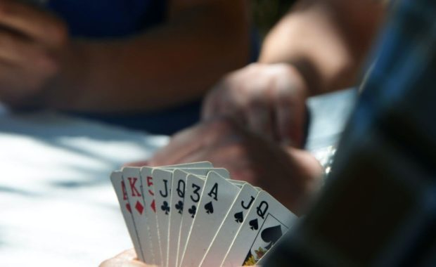 gambling card game card spread